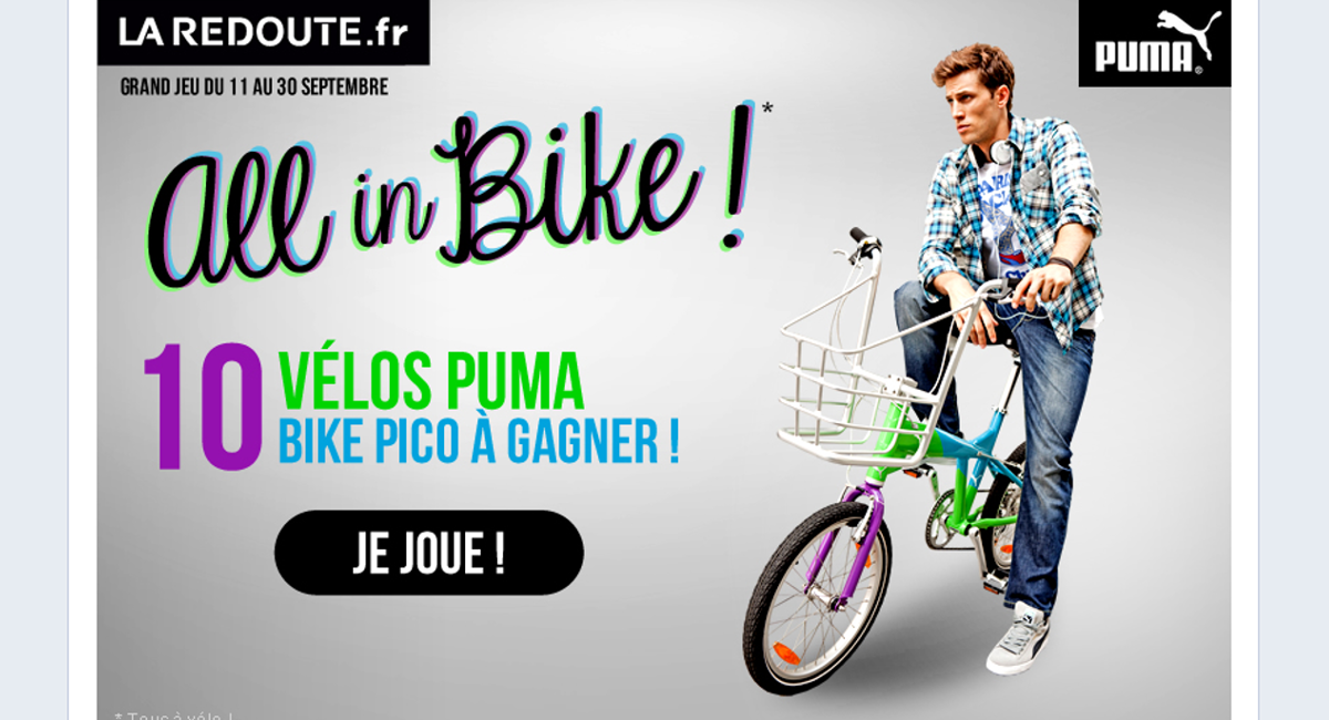 All in bike, Puma, La Redoute