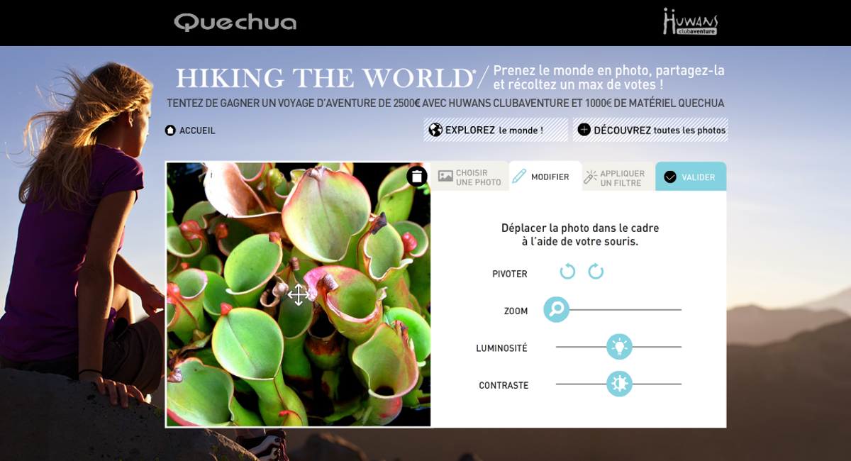 Quechua concours photo hiking the world