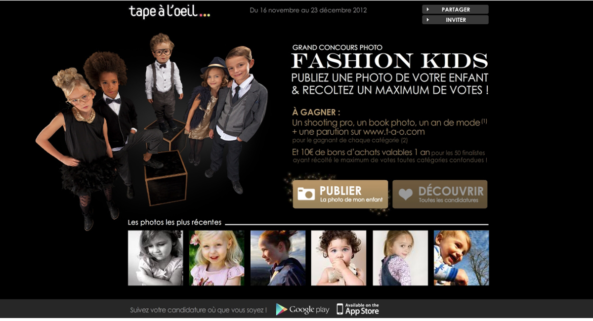 Concours photo Fashion kids Tape à l'oeil